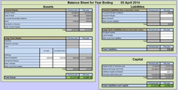 Accounting Spreadsheet Excel 1
