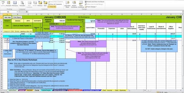 Basic Bookkeeping In Excel