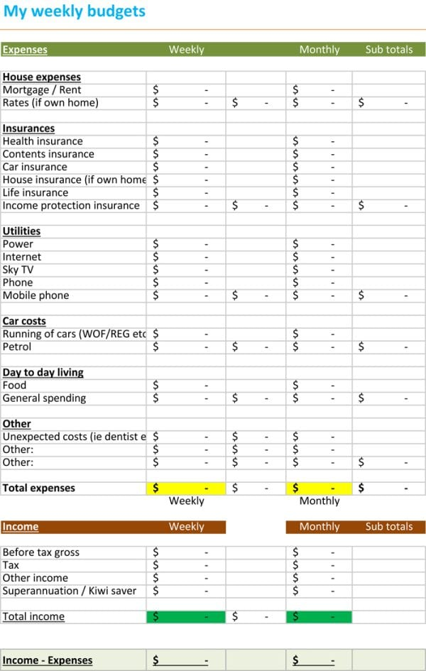 Business Spreadsheet Of Expenses And Income 1 1
