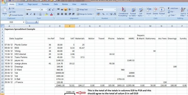 Business Spreadsheet Of Expenses And Income 4