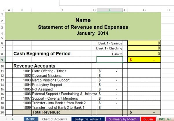 Expense Sheet For Small Business 1