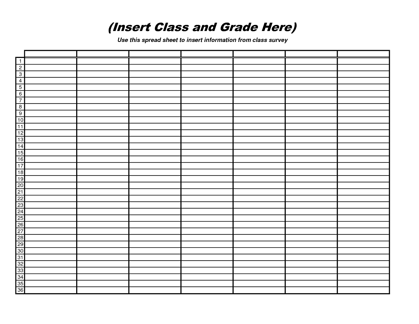 Free Blank Spreadsheet Downloads 1