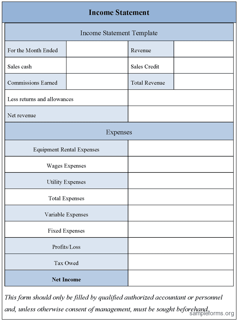 free excel income statement template 2 simple income