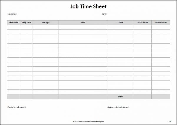 Free Monthly Bookkeeping Forms