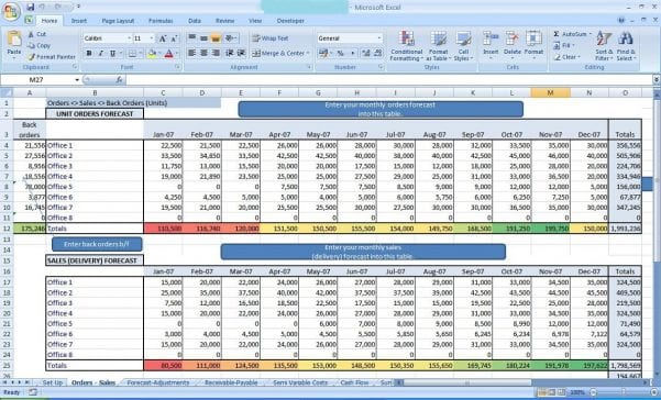 Business Expense Spreadsheet Template