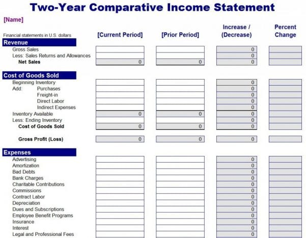 Self Employment Income Worksheet Template