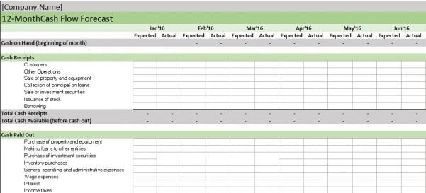 Tracking Business Expenses Spreadsheet 2