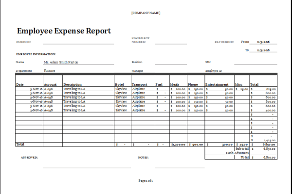 Accounting Excel Program 1