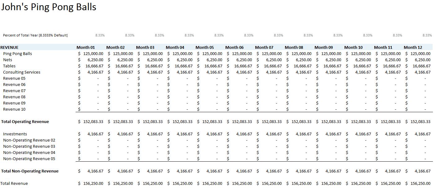 Balance Sheet Excel Templates