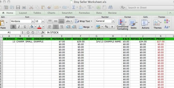 Bookkeeping Excel
