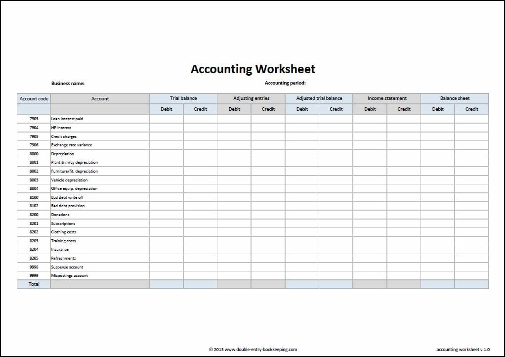 Bookkeeping Excel Spreadsheets Free Download 2