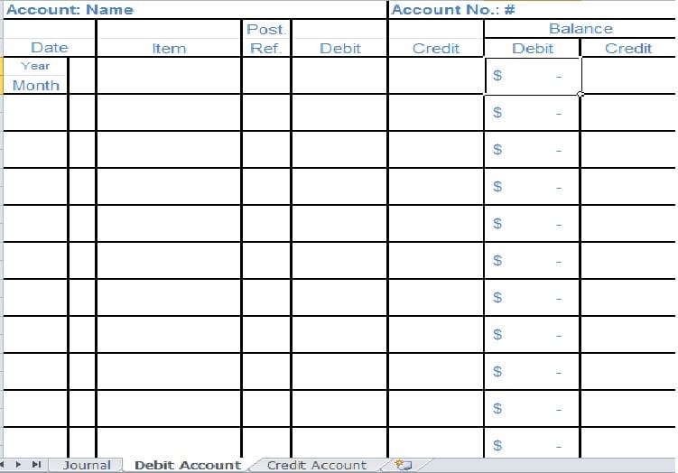 Bookkeeping Spreadsheet Template 2