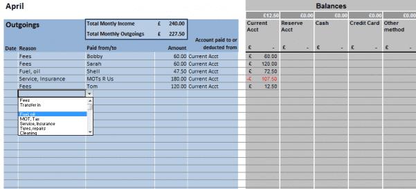 Excel Bookkeeping