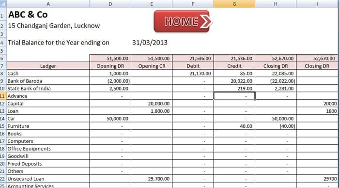 Excel Bookkeeping Templates