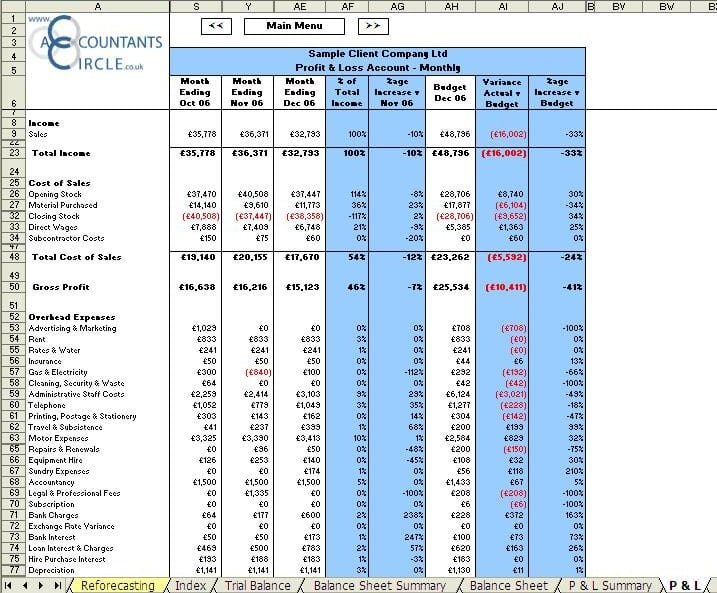 Excel Finance Templates