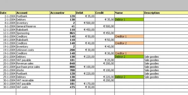 Excel Spreadsheet For Accounting Of Small Business