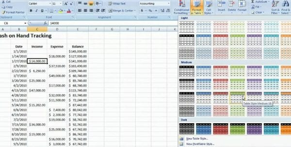 Finance Excel Spreadsheets