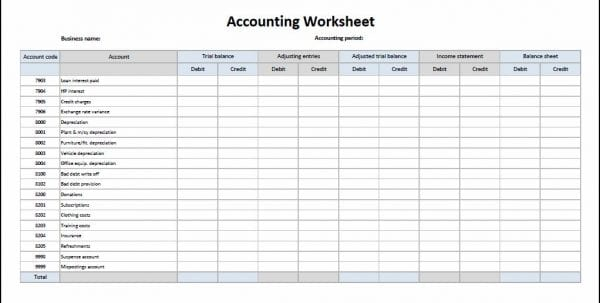 Free Accounting Spreadsheets For Small Business
