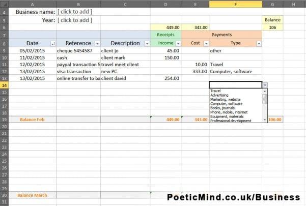 Free Bookkeeping Excel Spreadsheet