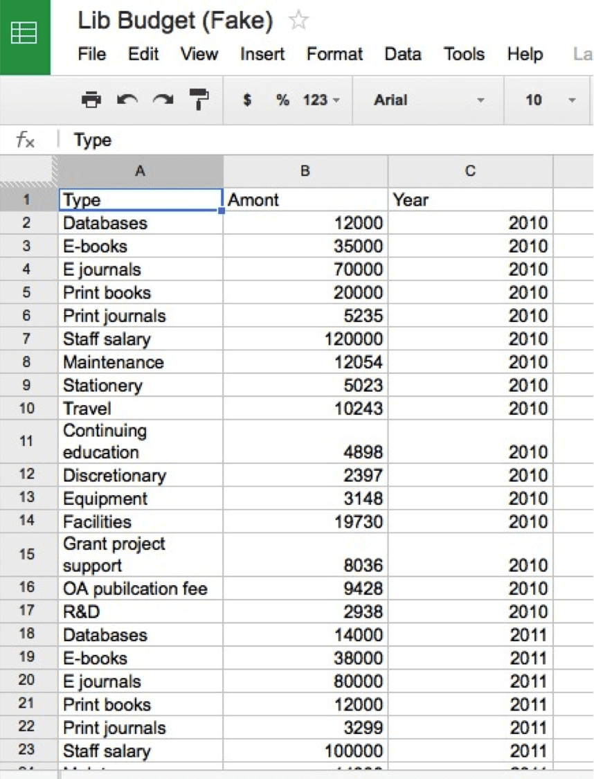 Microsoft Spreadsheet Template