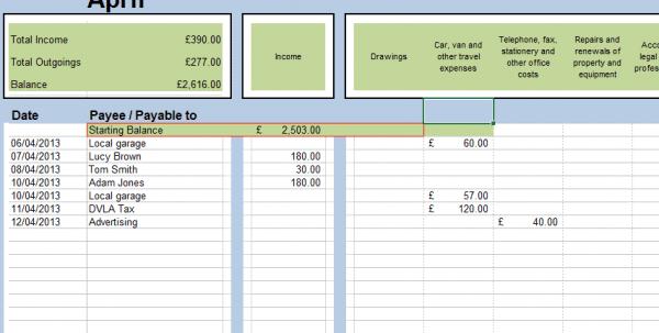 Open Office Bookkeeping
