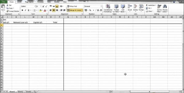 Simple Bookkeeping Spreadsheet Template Free 1