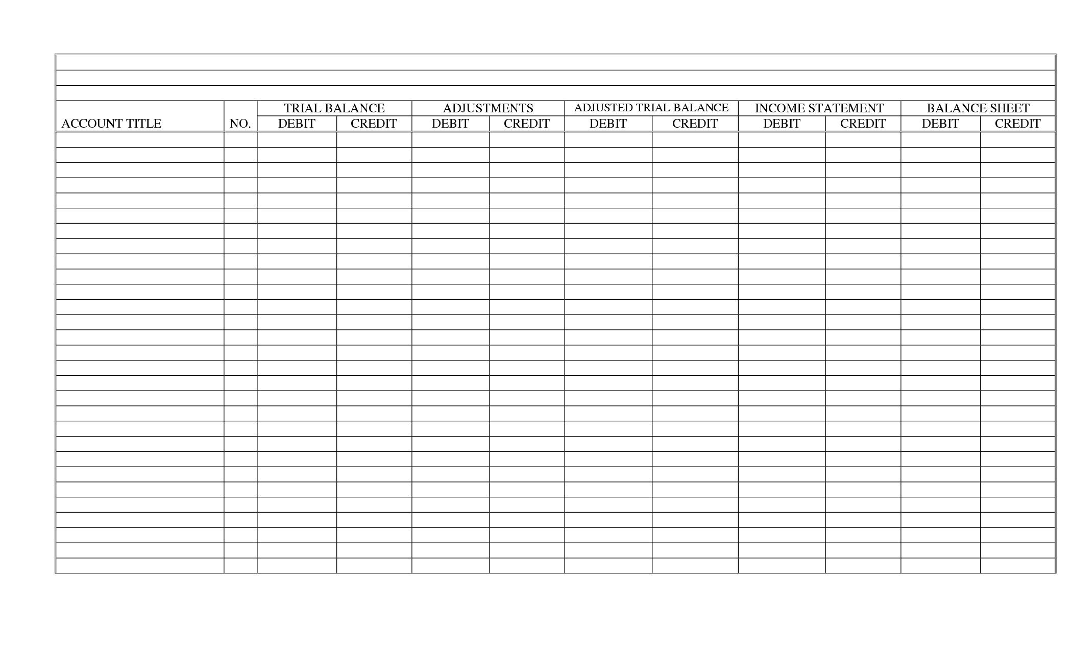 Blank Writing Worksheet Templates