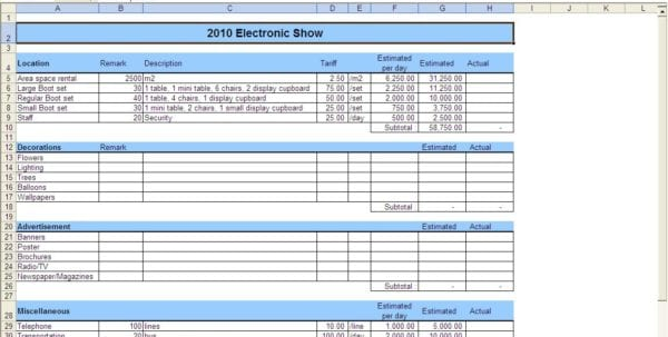 Budget Expense Report Monthly Expense Spreadsheet Template Expense