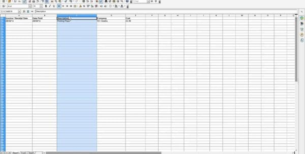 Business Spreadsheet Of Expenses And Income 1 Accounting Spreadsheet For Small Business Accounting Spreadsheet, Business Spreadsheet, Spreadsheet Templates for Business