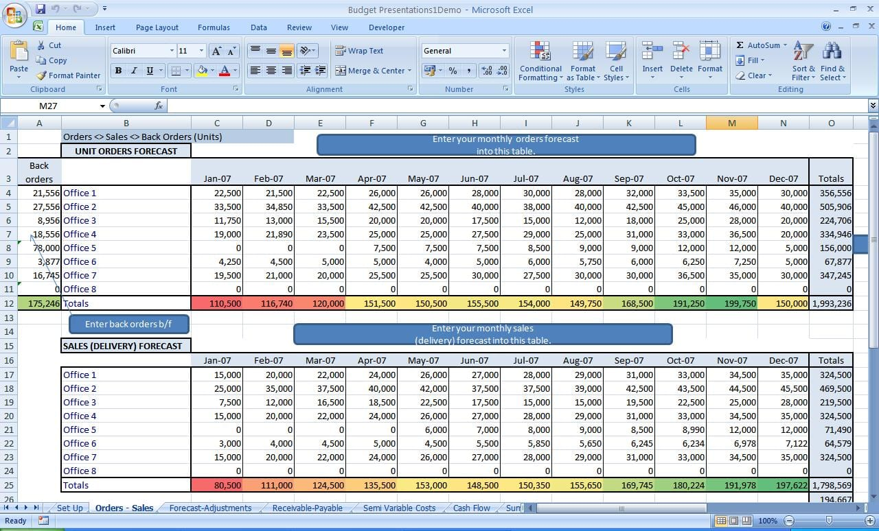 Business Spreadsheet Of Expenses And Income 1 2