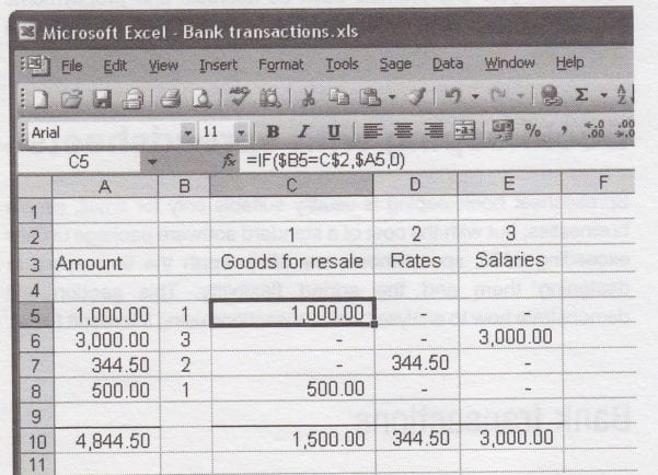 Business Spreadsheets Expenses And Revenues