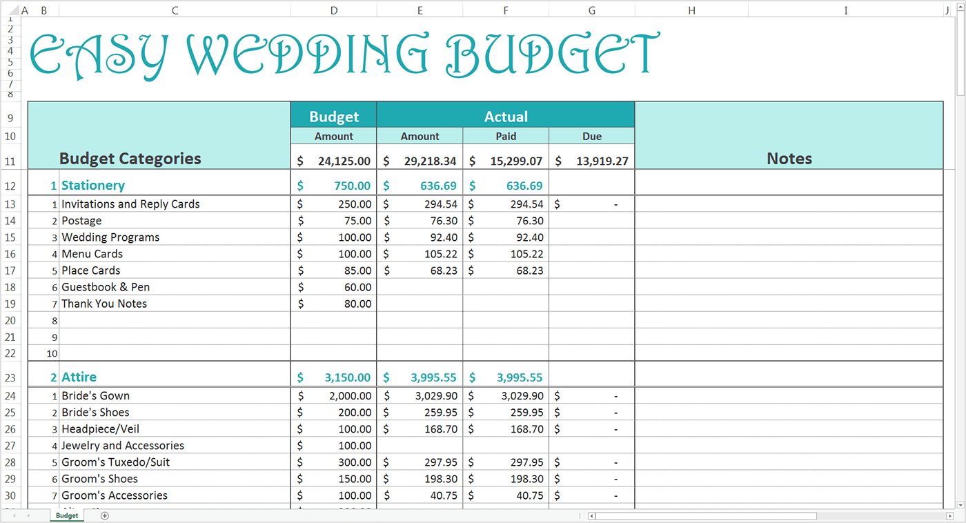 Daily Spending Tracker Spreadsheet