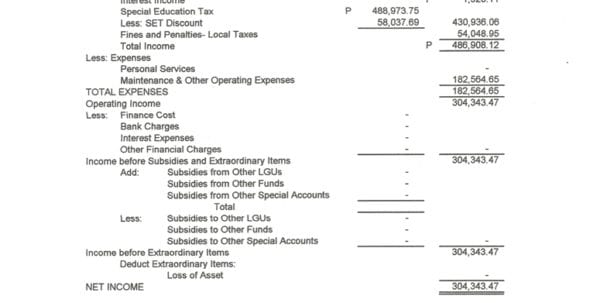 Easy Income And Expense Sheet
