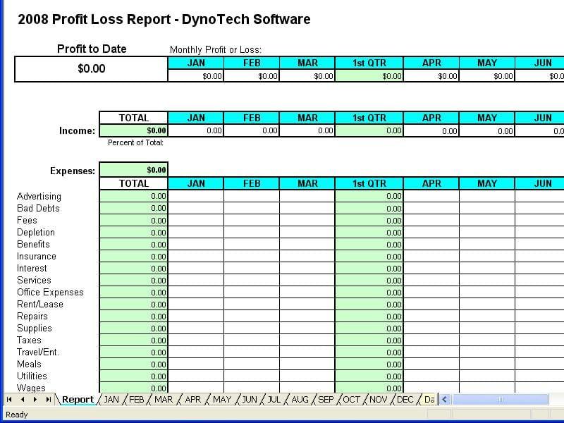 Example Of Bookkeeping Spreadsheet