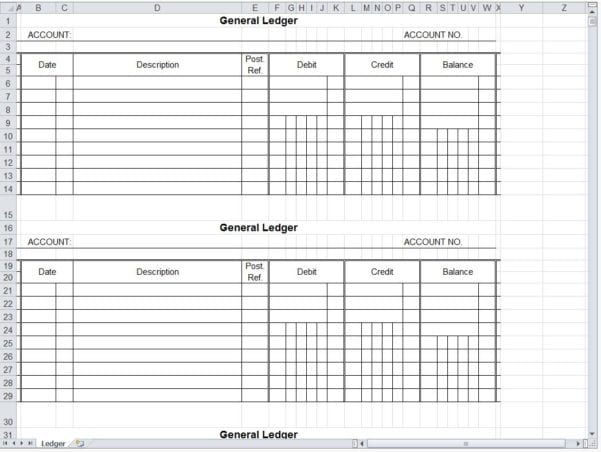Excel Bookkeeping Templates 2015