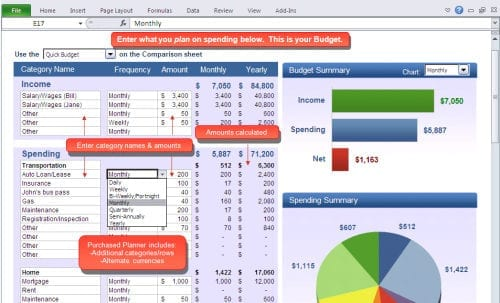 Excel Template For Business Expenses 1