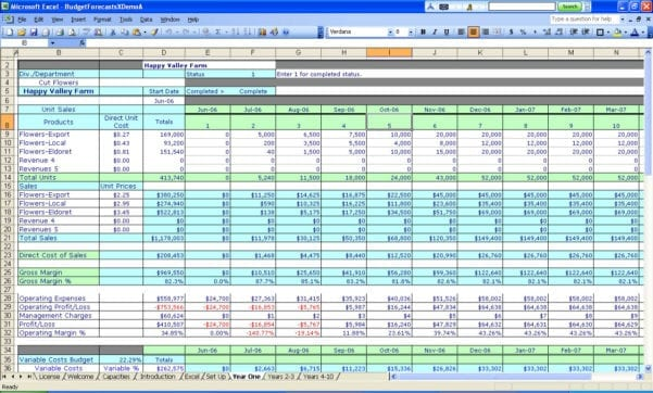 Examples Of Spreadsheets