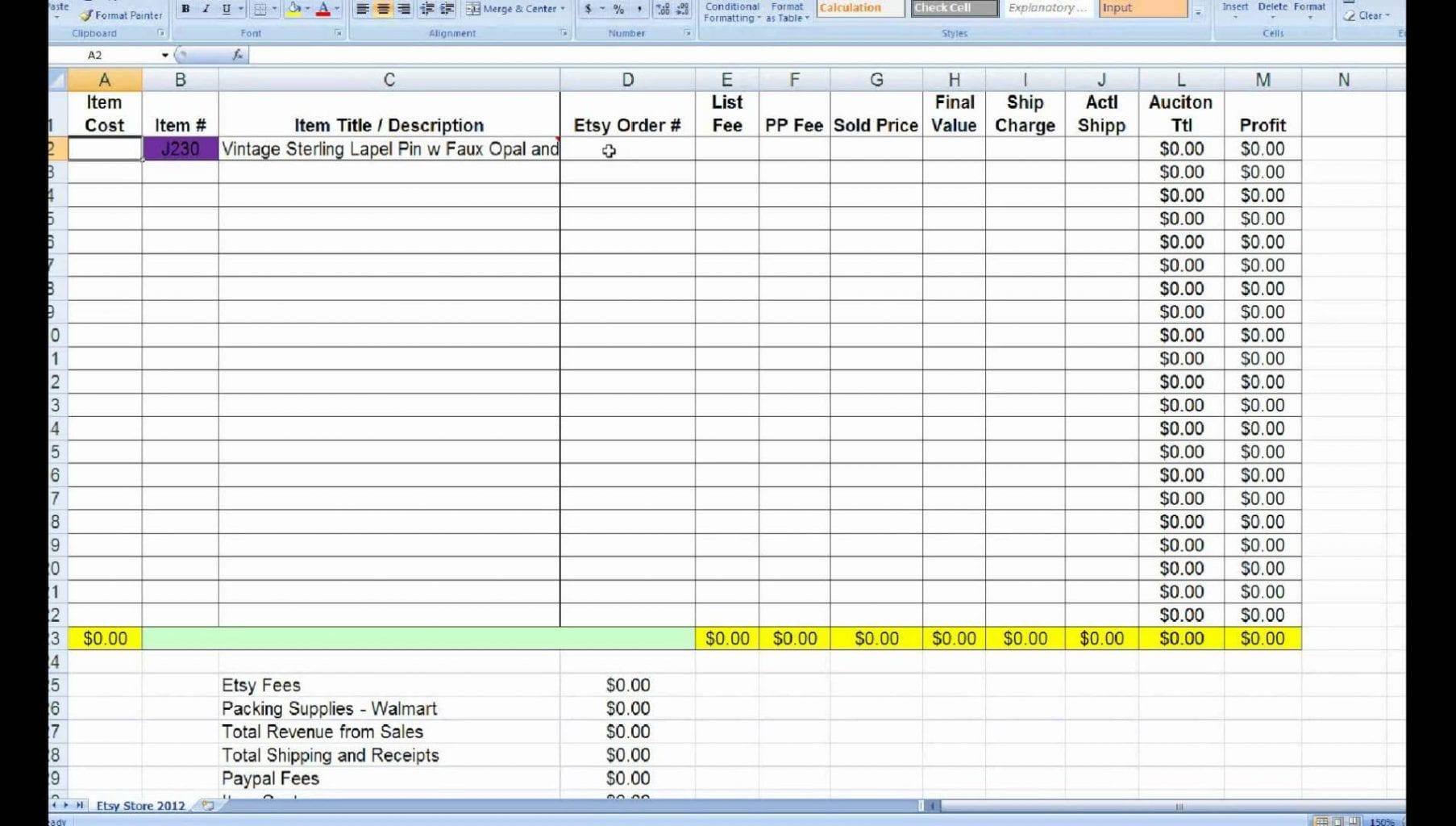 profit and loss spreadsheet template  u2014 excelxo com