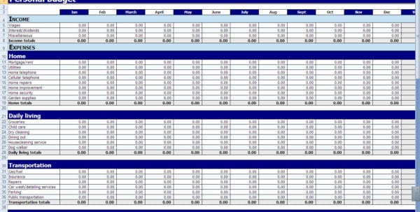 Free Expense Report Form Excel Monthly Expense Spreadsheet – Free Expense Reports