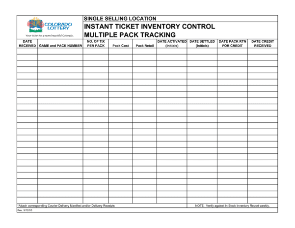Free Printable Inventory Forms