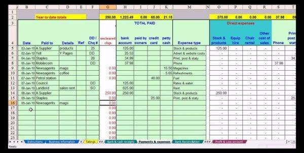 Free Printable Spreadsheet 1