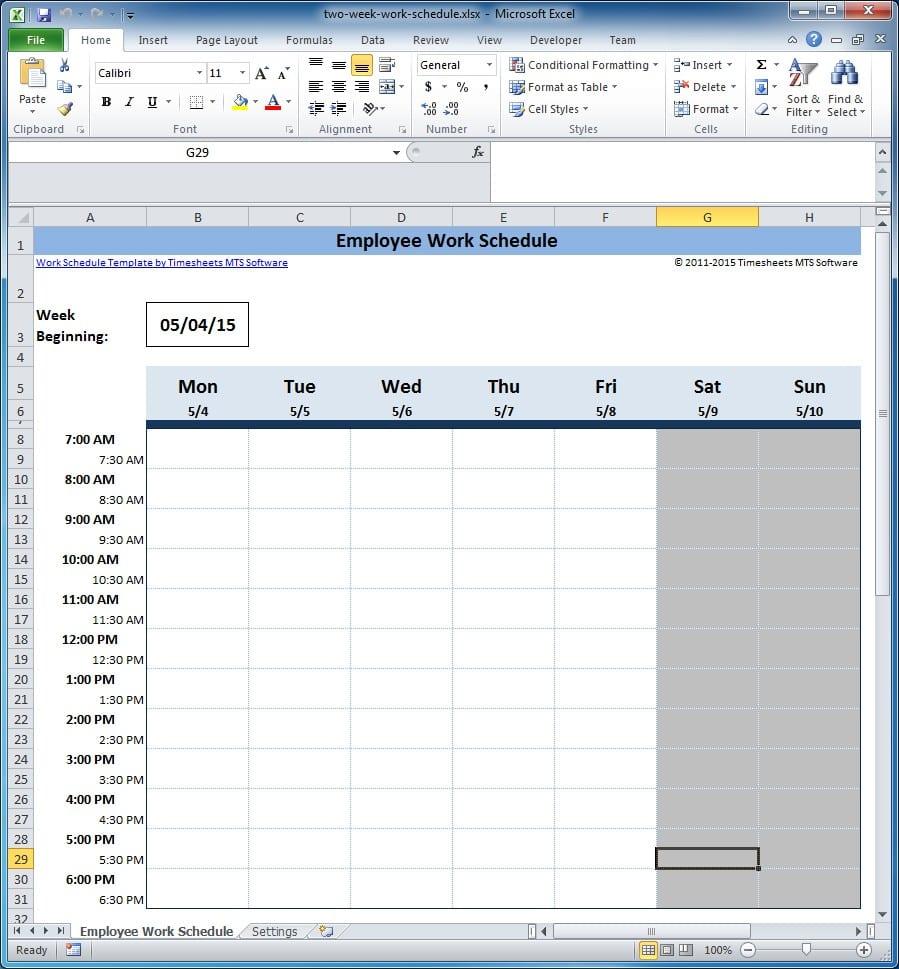 Free Work Schedule Maker