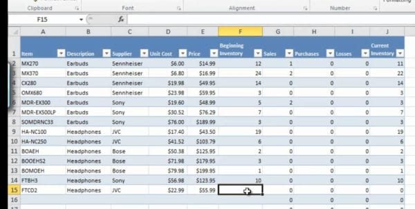 How To Manage Inventory With Excel