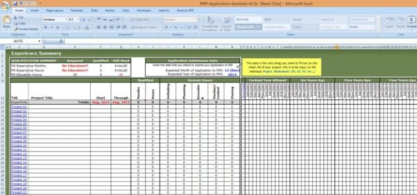Microsoft Excel Project Template