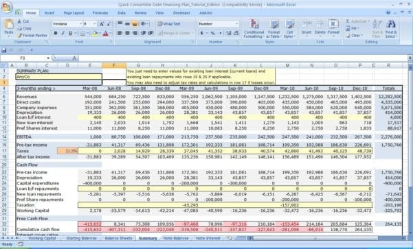 Personal Cash Flow Excel Template