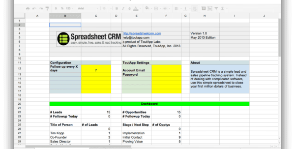 sales leads spreadsheet templates