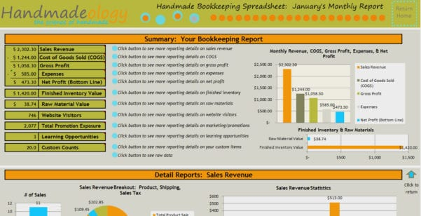 Accounting Spreadsheet Template For Small Business