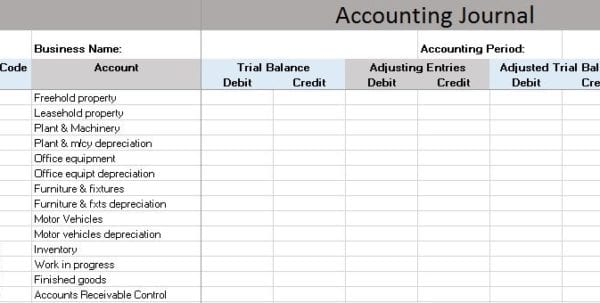 Basic Accounting Worksheet : Simple business accounting spreadsheet