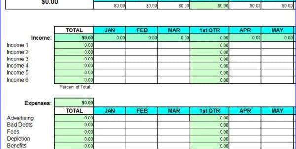 Basic Accounting Spreadsheet For Small Business