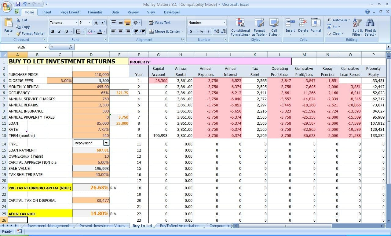 Personal finance spreadsheet template finance spreadsheet for Investment plan template xls